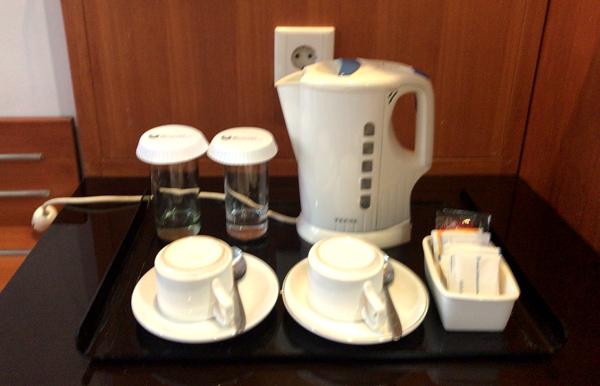 電気ケトルや無料のコーヒー・紅茶など