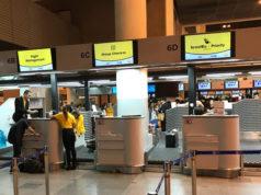 ドンムアン空港のスクートのチェックインカウンター