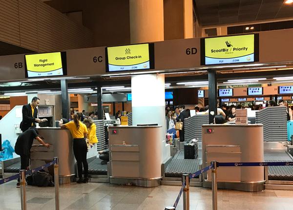 ドンムアン空港にあるスクートのチェックインカウンター