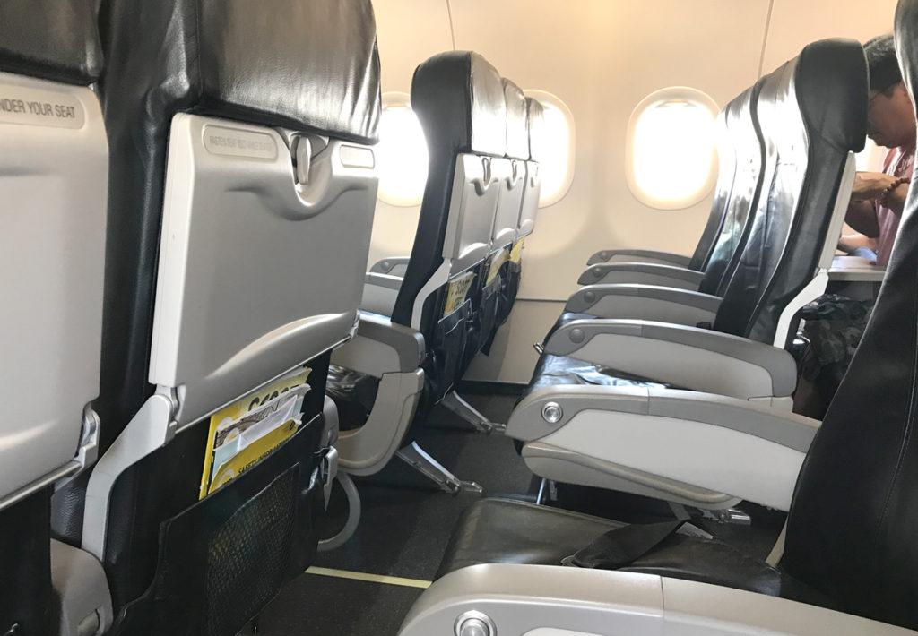 A320の機内の様子