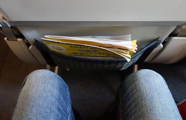 B787のスタンダードシートの座席間隔