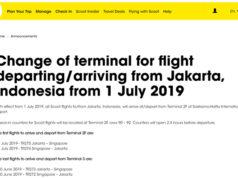 スクート、7月よりジャカルタ発着便をターミナル2Fに移転