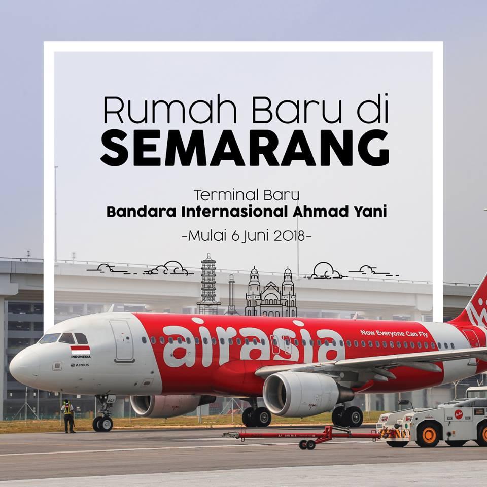 エアアジアグループ、6月6日よりスマラン発着便は新ターミナルを利用