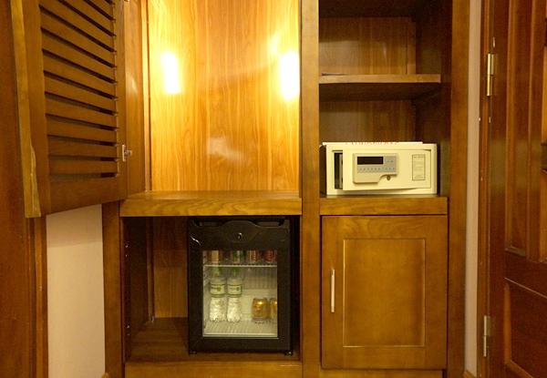 冷蔵庫、セーフティーボックス、クローゼット