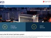 ICA - SG Arrival Card