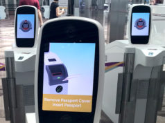 シンガポールの自動化ゲート