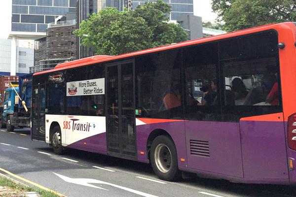 SBSトランジット社のバス