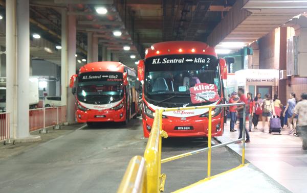 KLセントラル駅のスカイバス乗り場