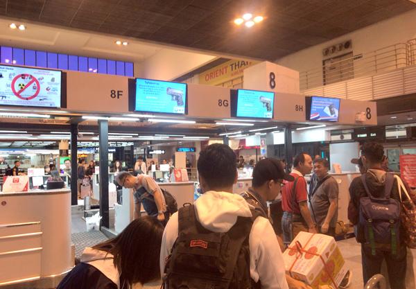 タイ・ライオンエアのチェックインカウンター