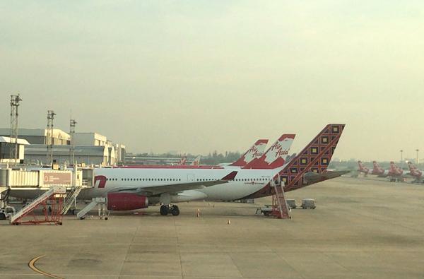 タイ・ライオンエアとタイ・エアアジアXのエアバスA330型機