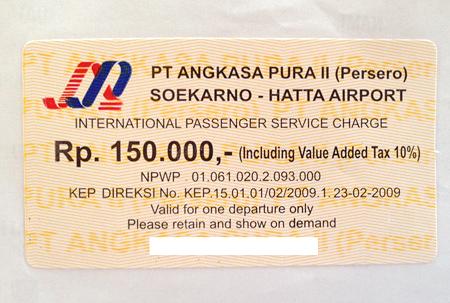 スカルノ・ハッタ国際空港の国際線空港税