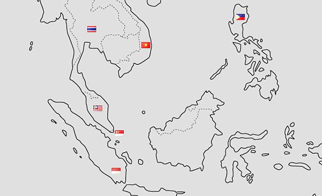 東南アジアの地図