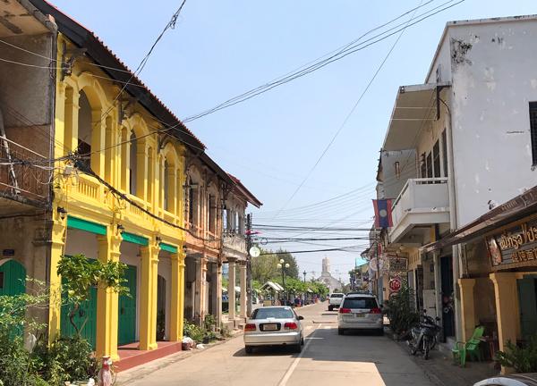 コロニアル建築が残る街並み