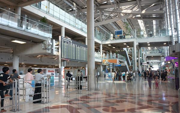 スワンナプーム国際空港の到着フロア