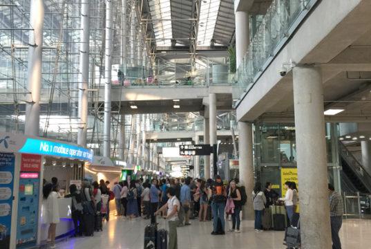 スワンナプーム空港の到着ホール