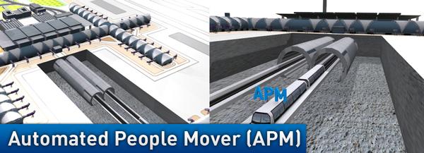 スワンナプーム国際空港の新交通システム