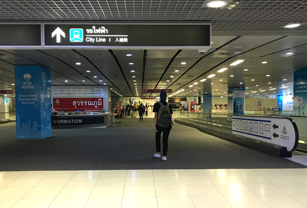 エアポートリンクのスワンナプーム空港駅