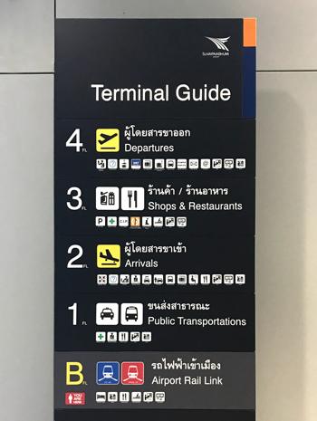 スワンナプーム空港のフロア案内