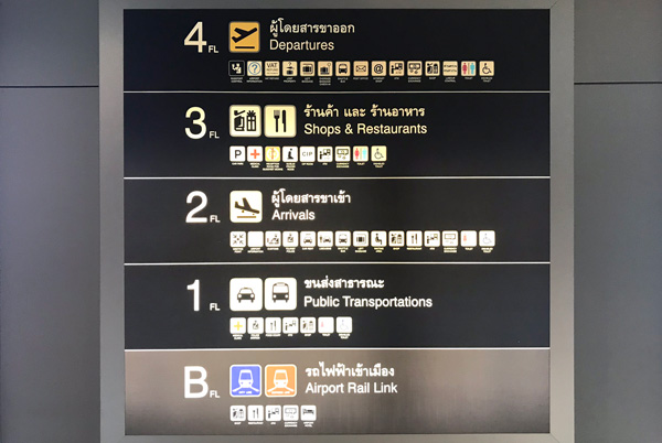 スワンナプーム空港ターミナルのフロア案内