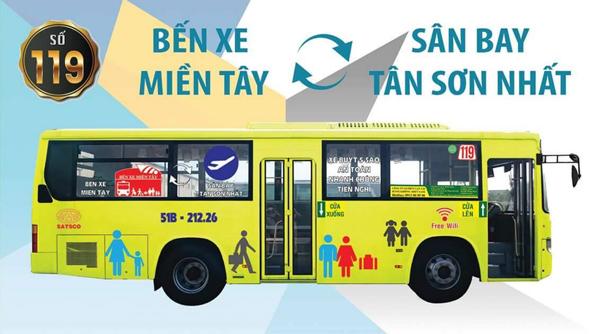 タンソンニャット国際空港~ミエンタイバスターミナル間の119番バス