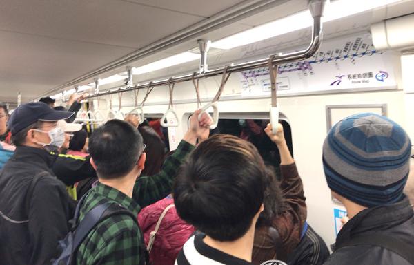 MRT空港線車内の様子
