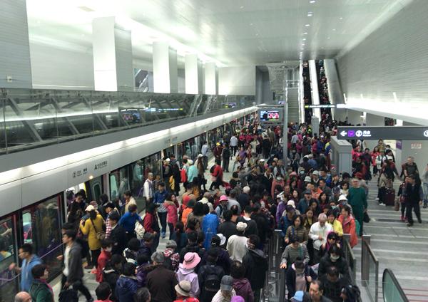 MRT空港線の台北駅