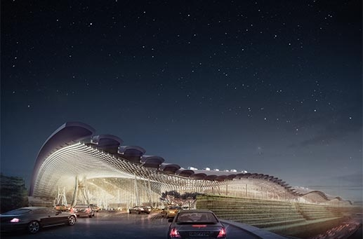 台湾桃園国際空港ターミナル3 完成予想図