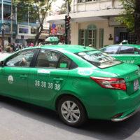 ホーチミン市内を走るマイリンタクシー
