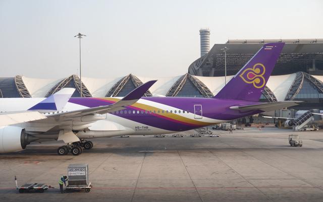 タイ国際航空のエアバスA350型機