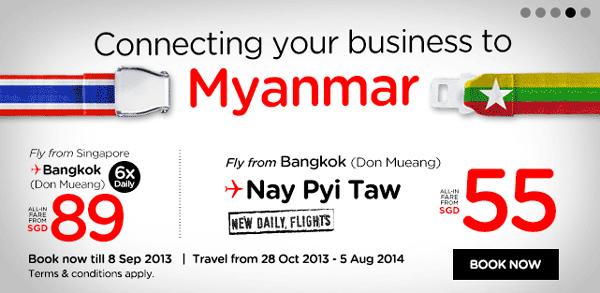 タイ・エアアジア、10月28日よりバンコク―ネピドー線に就航