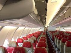 タイ・エアアジアXの機内