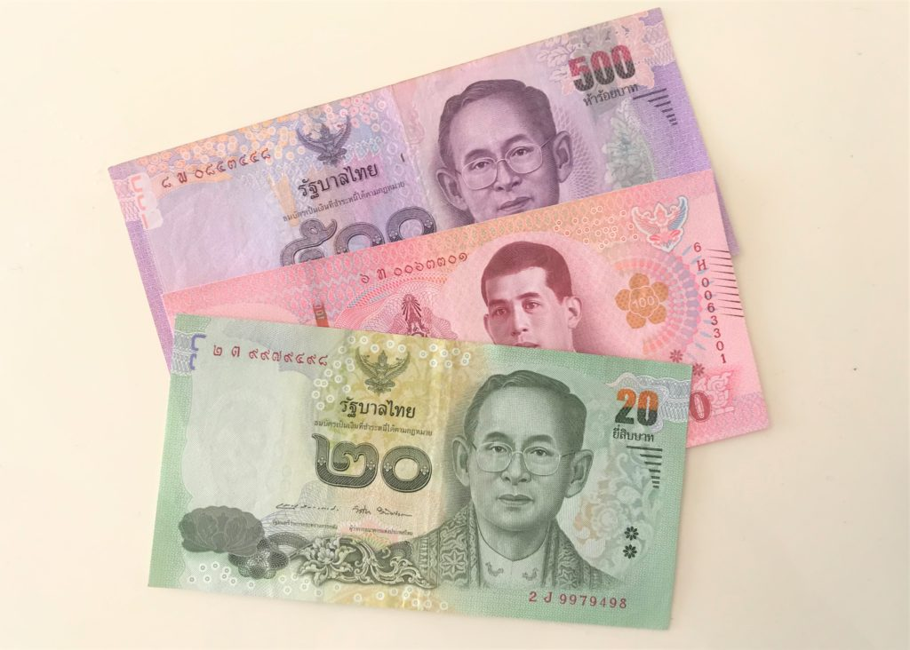 タイバーツ紙幣