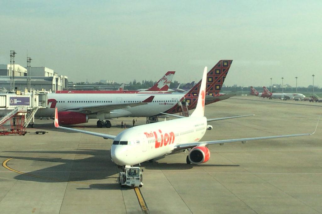 タイ・ライオンエアの航空機