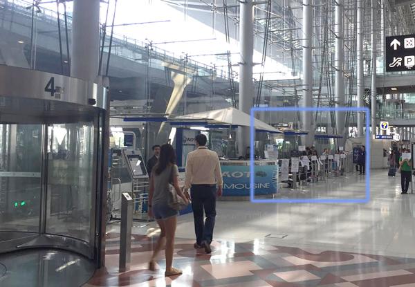 スワンナプーム空港到着フロア4番出口付近