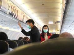タイ・エアアジア機にて