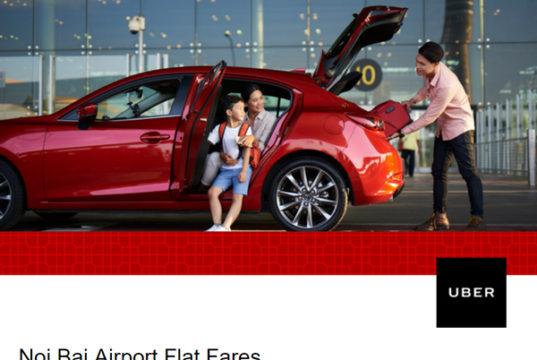 Uber、ハノイ市内~空港間の料金を値下げ
