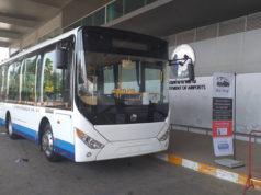 ウボンラチャターニー空港と市内中心部を結ぶ路線バス