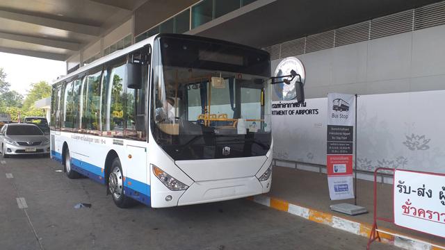 ウボンラーチャターニー空港と市内中心部を結ぶ路線バス