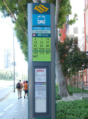 バス路線表示