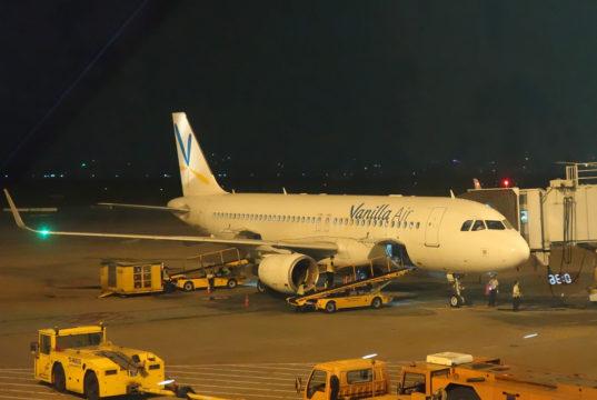 タンソンニャット空港に駐機中のバニラエア機