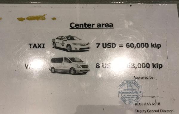 空港から市内中心部への運賃
