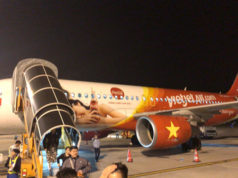 ハノイ・ノイバイ空港に駐機中のベトジェットエア機