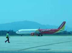 ダナン空港に着陸したベトジェットエア機