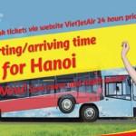 ベトジェットエア ハノイでバスサービスを開始