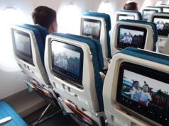 エアバスA350機内の様子