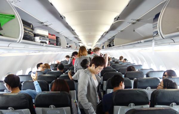 出発前の機内の様子