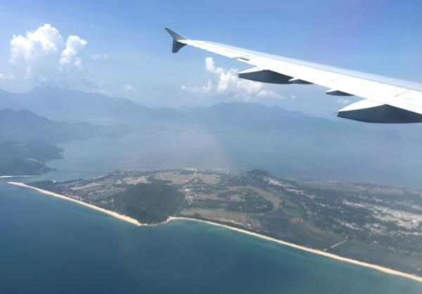 機内から撮影した風景