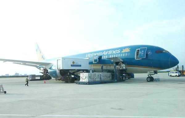 タンソンニャット空港に駐機中のエアバスA350