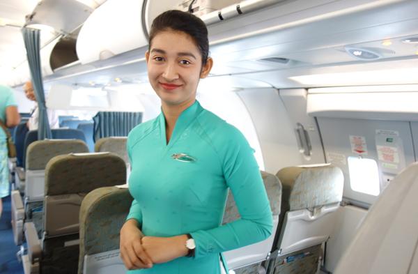 ベトナム航空のフライトアテンダント