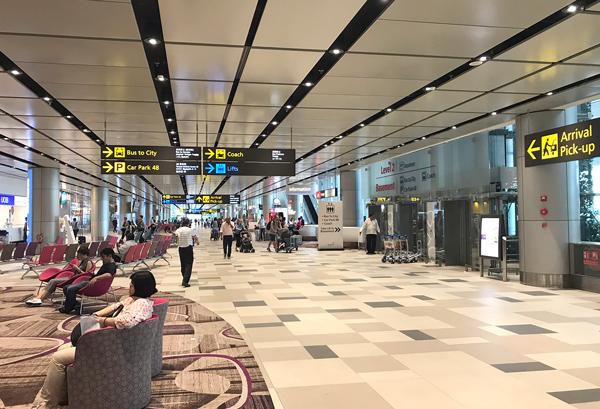 チャンギ空港ターミナル4到着ホール